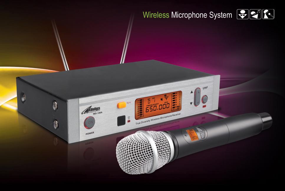 BEZDRÁTOVÝ UHF MIKROFON RADIGS